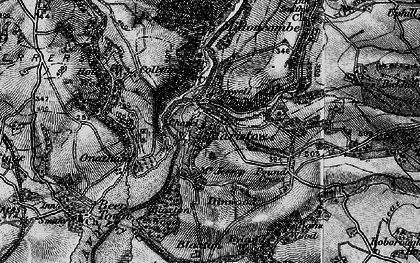Old map of Bame Wood in 1896