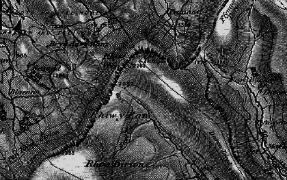 Old map of Afon Honddu in 1896