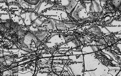 Old map of Wincham Brook in 1896