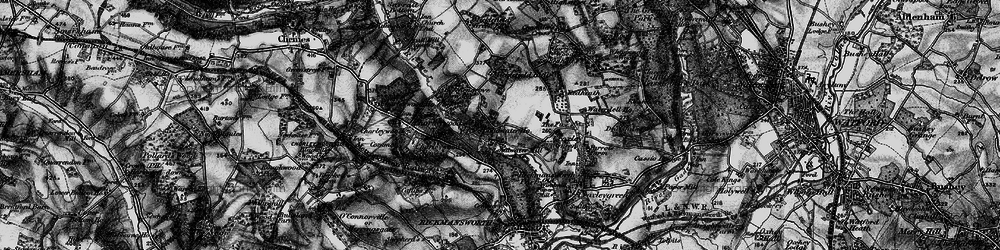 Old map of Thurlwood Ho in 1896