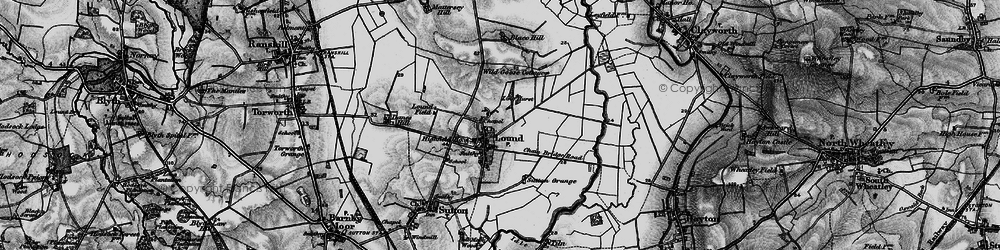 Old map of Ling Hurst Lakes in 1895
