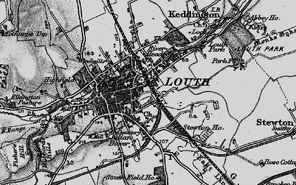 Old map of Louth in 1899