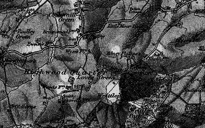 Old map of Wyse's Cottage in 1896