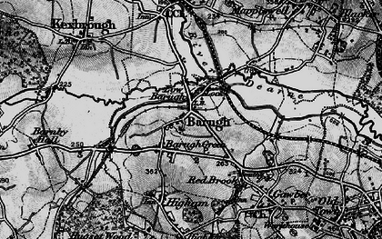 Old map of Low Barugh in 1896