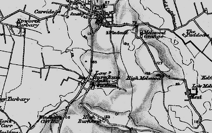 Old map of Low Burnham in 1895