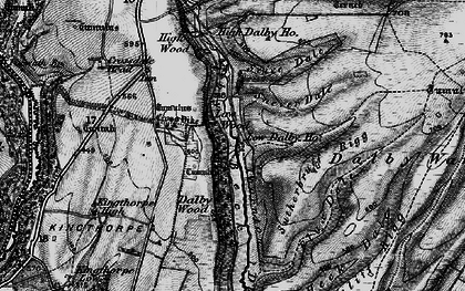 Old map of Low Dalby in 1898