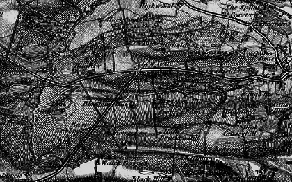 Old map of Leazes in 1897
