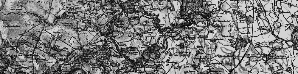 Old map of Wet Car Wood in 1897