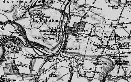 Old map of Low Hutton in 1898