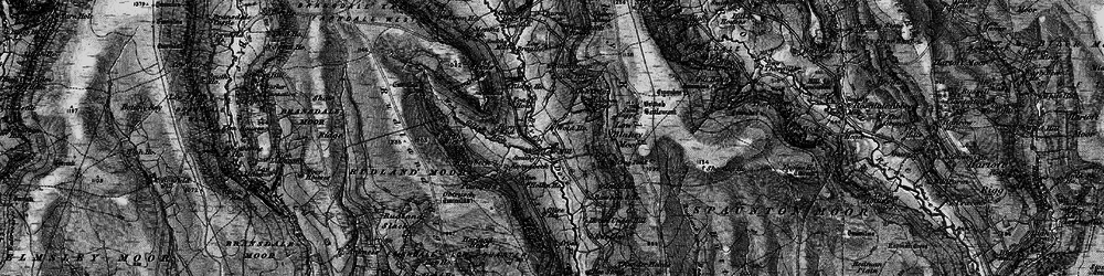 Old map of Wold Hos in 1898