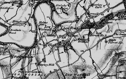 Old map of Worsall Grove in 1898