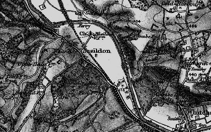 Old map of Lower Basildon in 1895