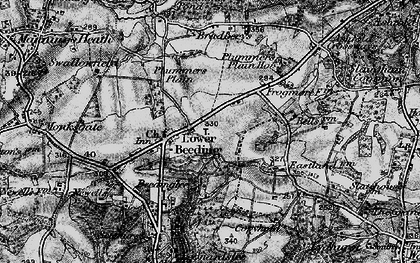 Old map of Lower Beeding in 1895
