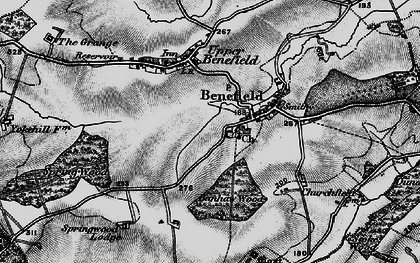 Old map of Banhaw Wood in 1898