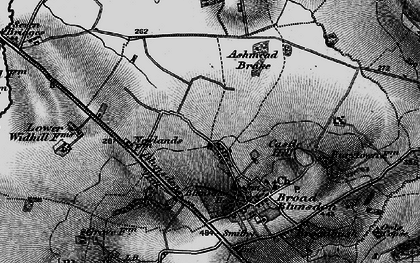 Old map of Ashmead Brake in 1896