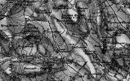 Old map of Lower Bodinnar in 1895