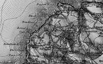 Old map of Lower Boscaswell in 1896