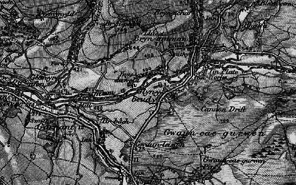 Old map of Lower Brynamman in 1897