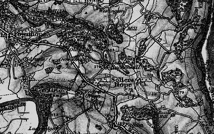 Old map of Alford's Mill in 1896
