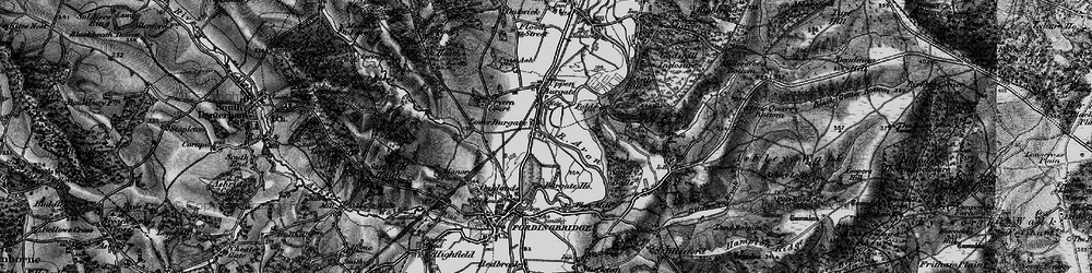 Old map of Lower Burgate in 1895