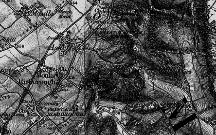 Old map of Whiteleaf Cross in 1895