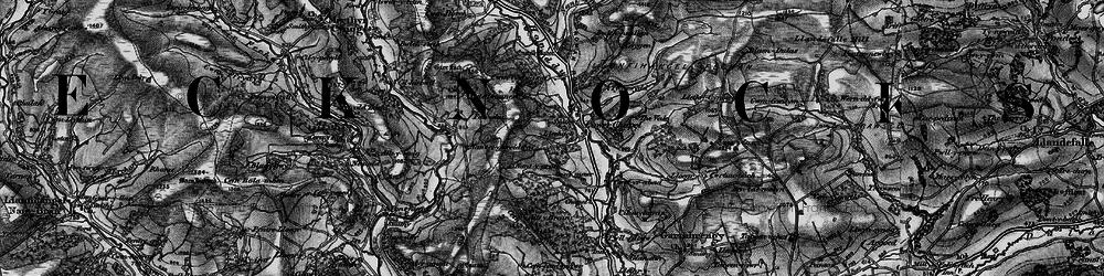 Old map of Alltybrain in 1898