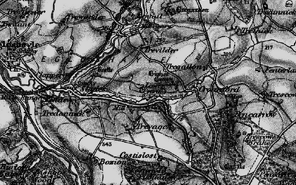 Old map of Lower Croan in 1895