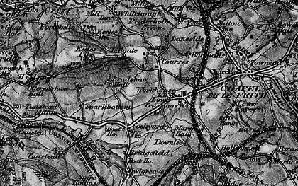 Old map of Lower Crossings in 1896