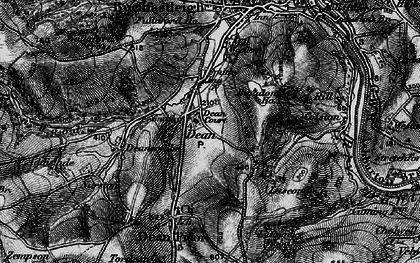 Old map of Lower Dean in 1898