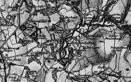 Old map of Bantons in 1896