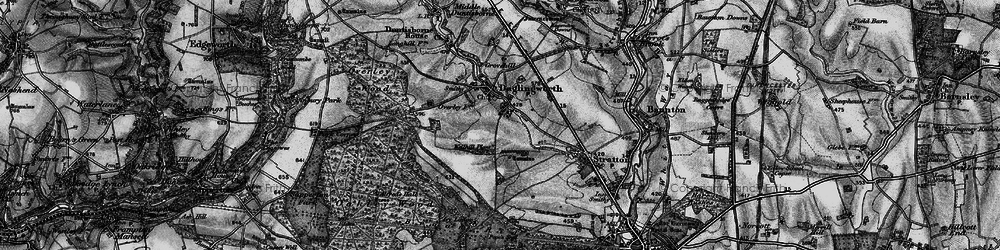 Old map of Alfred's Hall in 1896