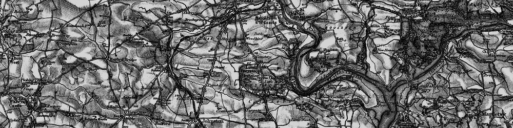 Old map of Woodbine in 1898