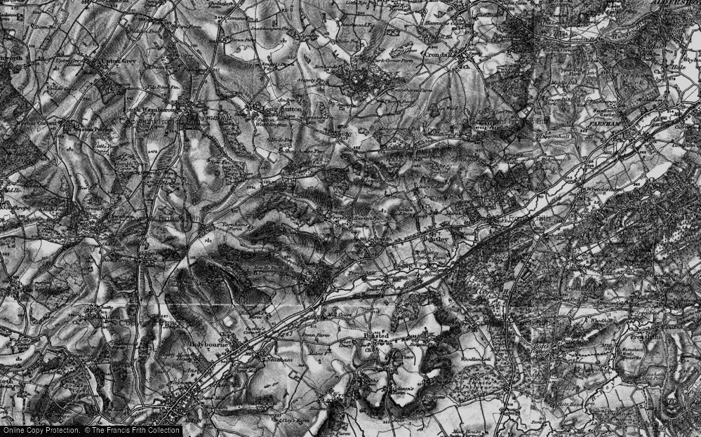 Old Map of Lower Froyle, 1895 in 1895