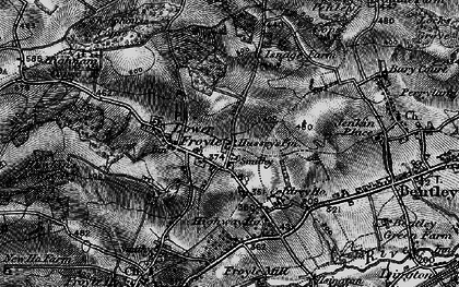 Old map of Lower Froyle in 1895