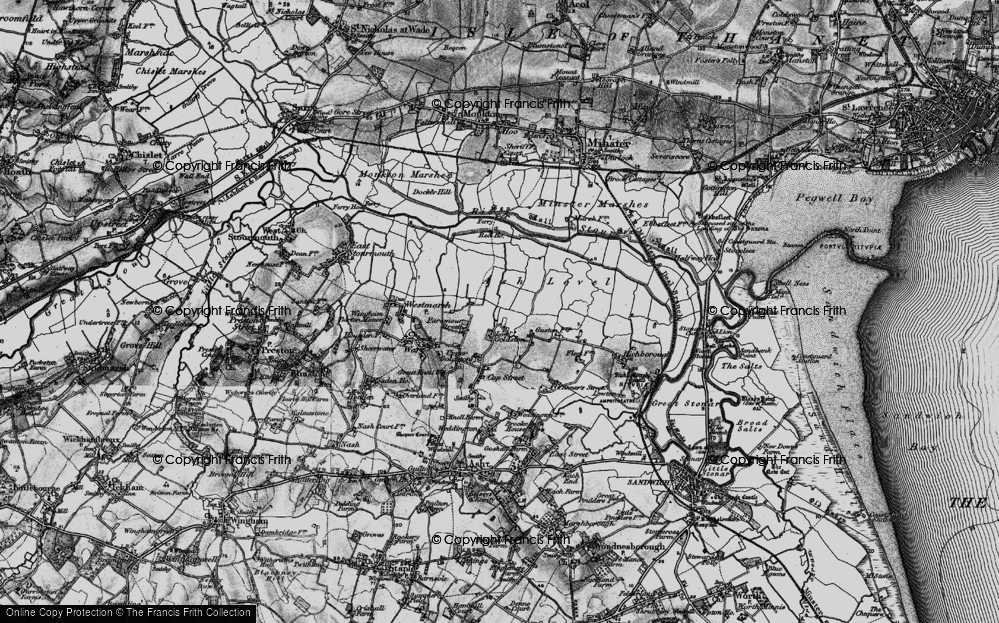 Old Map of Historic Map covering Ash Level in 1895