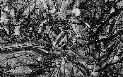 Old map of Anville's Copse in 1895