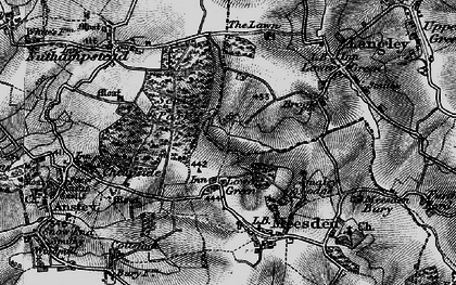Old map of Langley Lawn in 1896