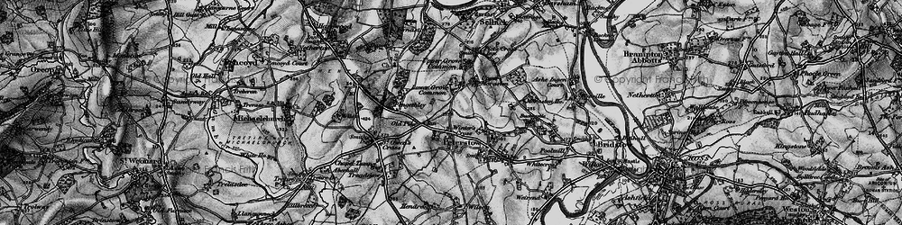 Old map of Winter's Cross in 1896