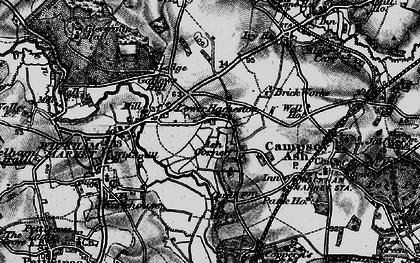 Old map of Ash Corner in 1898