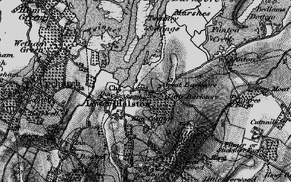 Old map of Lower Halstow in 1895