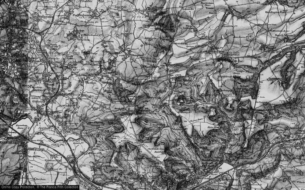 Old Map of Historic Map covering Tog Hill in 1898