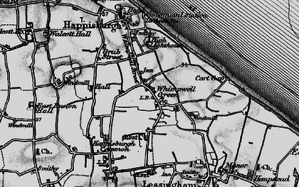 Old map of Lower Happisburgh in 1898
