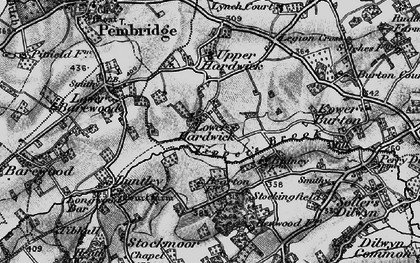 Old map of Lower Hardwick in 1899