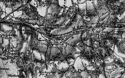 Old map of Lower Hartshay in 1895
