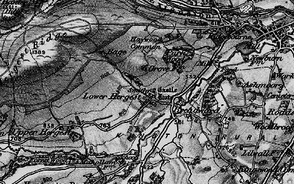Old map of Whet Stone in 1899