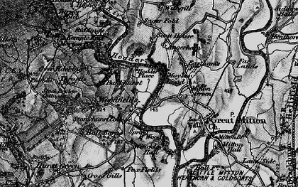 Old map of Lower Hodder in 1896