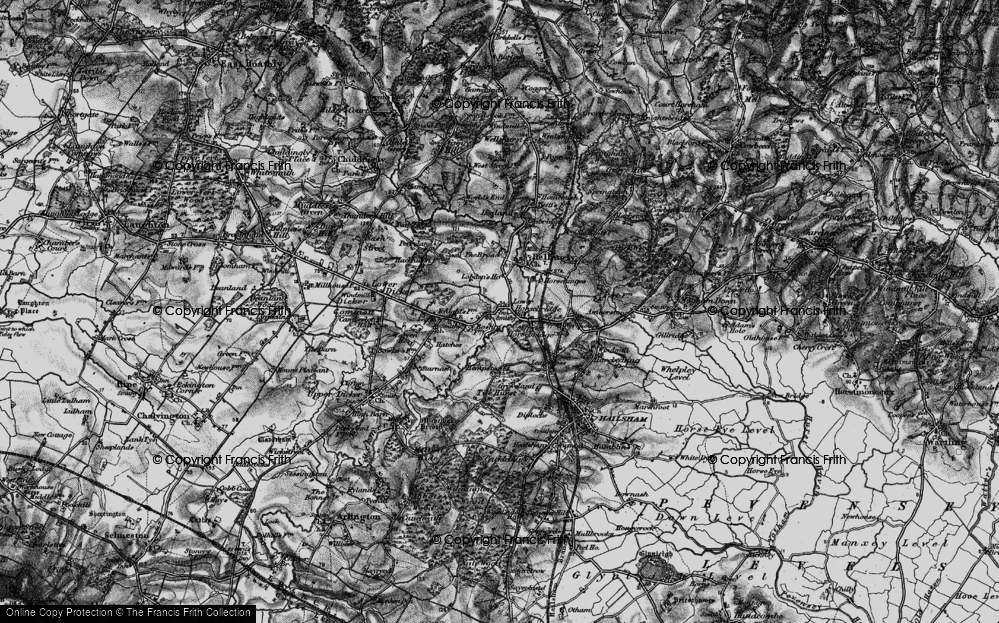 Old Map of Historic Map covering Tile Hurst in 1895