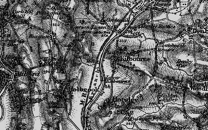 Old map of Lower Kilburn in 1895