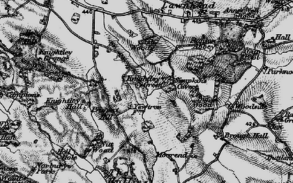 Old map of Ash Wood in 1897