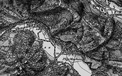Old map of Lower Machen in 1897